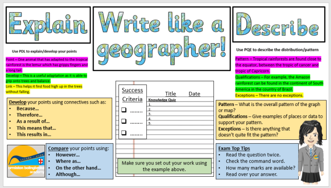 Write like a geographer